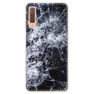 Silikonové odolné pouzdro iSaprio Cracked na mobil Samsung Galaxy A7 (2018)