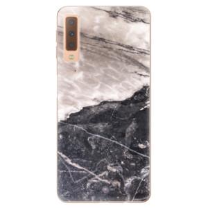Silikonové odolné pouzdro iSaprio BW Marble na mobil Samsung Galaxy A7 (2018)