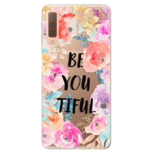 Silikonové odolné pouzdro iSaprio BeYouTiful na mobil Samsung Galaxy A7 (2018)