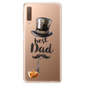 Silikonové odolné pouzdro iSaprio Best Dad na mobil Samsung Galaxy A7 (2018)