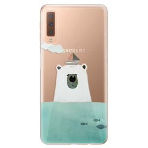 Silikonové odolné pouzdro iSaprio Bear With Boat na mobil Samsung Galaxy A7 (2018)