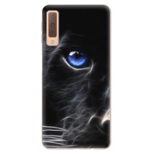 Silikonové odolné pouzdro iSaprio Black Puma na mobil Samsung Galaxy A7 (2018)