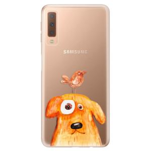 Silikonové odolné pouzdro iSaprio Dog And Bird na mobil Samsung Galaxy A7 (2018)