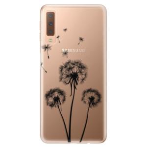 Silikonové odolné pouzdro iSaprio Three Dandelions black na mobil Samsung Galaxy A7 (2018)