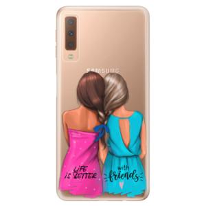 Silikonové odolné pouzdro iSaprio Best Friends na mobil Samsung Galaxy A7 (2018)