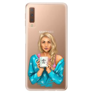 Silikonové odolné pouzdro iSaprio Coffee Now Blond na mobil Samsung Galaxy A7 (2018)