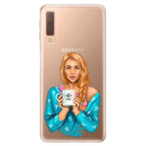 Silikonové odolné pouzdro iSaprio Coffee Now Redhead na mobil Samsung Galaxy A7 (2018)