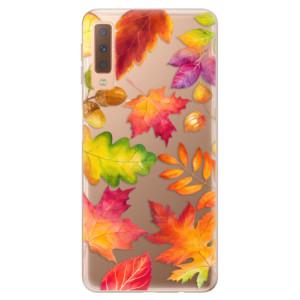 Silikonové odolné pouzdro iSaprio Autumn Leaves 01 na mobil Samsung Galaxy A7 (2018)
