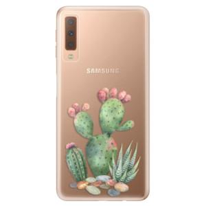 Silikonové odolné pouzdro iSaprio Cacti 01 na mobil Samsung Galaxy A7 (2018)