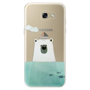 Silikonové odolné pouzdro iSaprio Bear With Boat na mobil Samsung Galaxy A5 2017