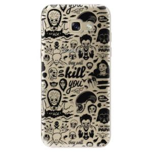 Silikonové odolné pouzdro iSaprio Comics 01 black na mobil Samsung Galaxy A5 2017