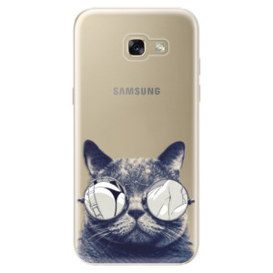Silikonové odolné pouzdro iSaprio Crazy Cat 01 na mobil Samsung Galaxy A5 2017