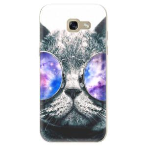 Silikonové odolné pouzdro iSaprio Galaxy Cat na mobil Samsung Galaxy A5 2017 - VÝPRODEJ