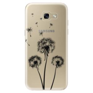 Silikonové odolné pouzdro iSaprio Three Dandelions black na mobil Samsung Galaxy A5 2017