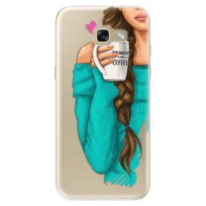 Silikonové odolné pouzdro iSaprio My Coffee and Brunette Girl na mobil Samsung Galaxy A5 2017