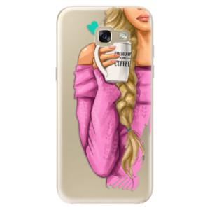 Silikonové odolné pouzdro iSaprio My Coffee and Blond Girl na mobil Samsung Galaxy A5 2017