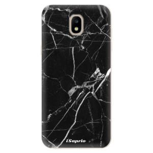 Silikonové odolné pouzdro iSaprio Black Marble 18 na mobil Samsung Galaxy J5 2017