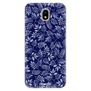 Silikonové odolné pouzdro iSaprio Blue Leaves 05 na mobil Samsung Galaxy J5 2017