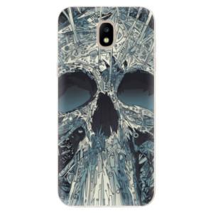 Silikonové odolné pouzdro iSaprio Abstract Skull na mobil Samsung Galaxy J5 2017