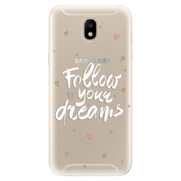 Silikonové odolné pouzdro iSaprio Follow Your Dreams white na mobil Samsung Galaxy J5 2017 (Silikonový odolný kryt, obal, pouzdro iSaprio Follow Your Dreams white na mobil Samsung Galaxy J5 (2017))