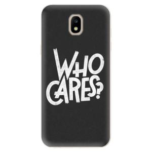 Silikonové odolné pouzdro iSaprio Who Cares na mobil Samsung Galaxy J5 2017