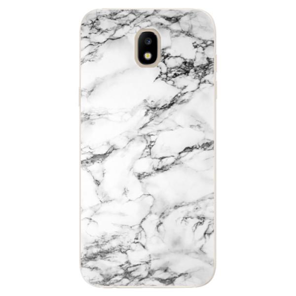 Silikonové odolné pouzdro iSaprio White Marble 01 na mobil Samsung Galaxy J5 2017 (Silikonový odolný kryt, obal, pouzdro iSaprio White Marble 01 na mobil Samsung Galaxy J5 (2017))