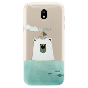 Silikonové odolné pouzdro iSaprio Bear With Boat na mobil Samsung Galaxy J5 2017