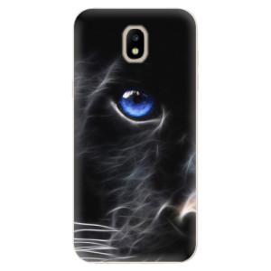 Silikonové odolné pouzdro iSaprio Black Puma na mobil Samsung Galaxy J5 2017