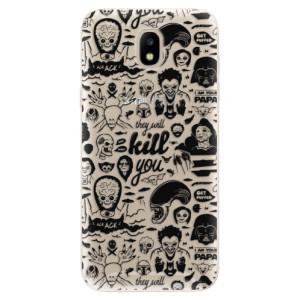 Silikonové odolné pouzdro iSaprio Comics 01 black na mobil Samsung Galaxy J5 2017