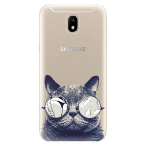 Silikonové odolné pouzdro iSaprio Crazy Cat 01 na mobil Samsung Galaxy J5 2017