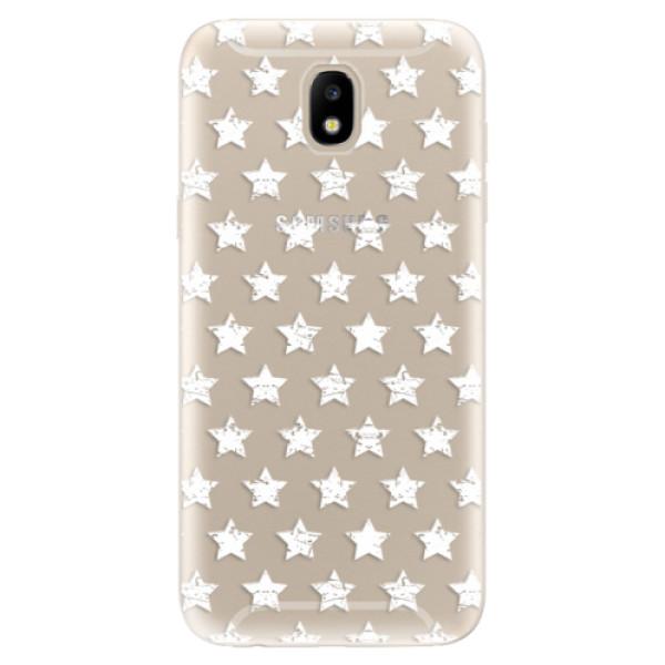 Silikonové odolné pouzdro iSaprio Stars Pattern white na mobil Samsung Galaxy J5 2017 (Silikonový odolný kryt, obal, pouzdro iSaprio Stars Pattern white na mobil Samsung Galaxy J5 (2017))