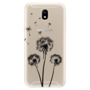 Silikonové odolné pouzdro iSaprio Three Dandelions black na mobil Samsung Galaxy J5 2017