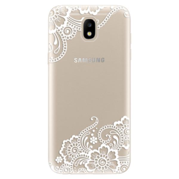 Silikonové odolné pouzdro iSaprio White Lace 02 na mobil Samsung Galaxy J5 2017 (Silikonový odolný kryt, obal, pouzdro iSaprio White Lace 02 na mobil Samsung Galaxy J5 (2017))