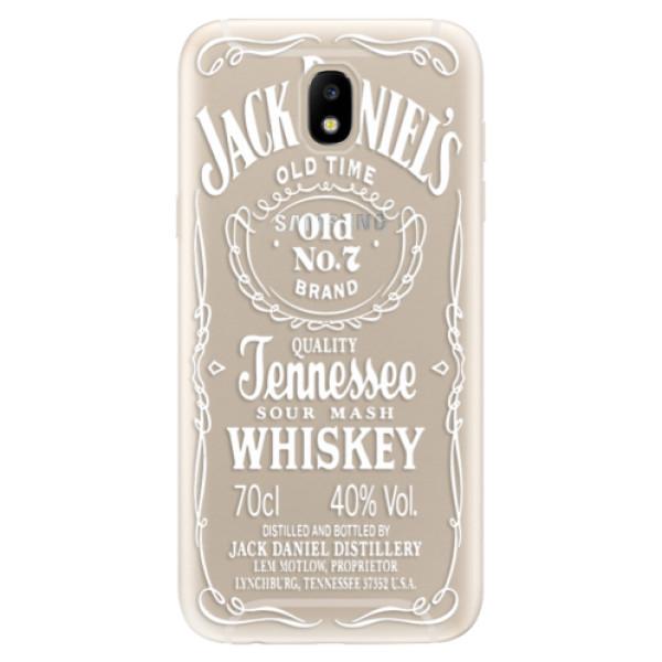 Silikonové odolné pouzdro iSaprio Transparent White Jack na mobil Samsung Galaxy J5 2017 (Silikonový odolný kryt, obal, pouzdro iSaprio Transparent White Jack na mobil Samsung Galaxy J5 (2017))