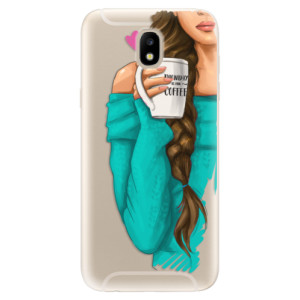 Silikonové odolné pouzdro iSaprio My Coffee and Brunette Girl na mobil Samsung Galaxy J5 2017