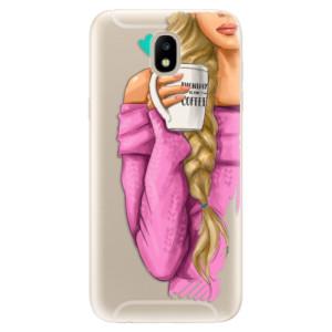 Silikonové odolné pouzdro iSaprio My Coffee and Blond Girl na mobil Samsung Galaxy J5 2017