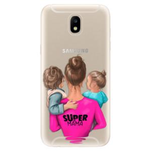 Silikonové odolné pouzdro iSaprio Super Mama & Boy and Girl na mobil Samsung Galaxy J5 2017