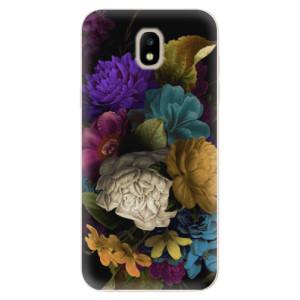 Silikonové odolné pouzdro iSaprio Dark Flowers na mobil Samsung Galaxy J5 2017