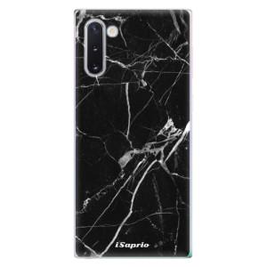 Silikonové odolné pouzdro iSaprio Black Marble 18 na mobil Samsung Galaxy Note 10