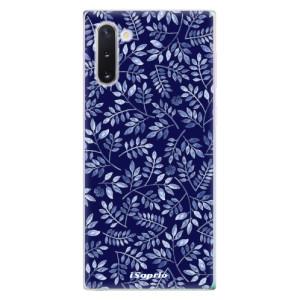 Silikonové odolné pouzdro iSaprio Blue Leaves 05 na mobil Samsung Galaxy Note 10