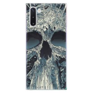 Silikonové odolné pouzdro iSaprio Abstract Skull na mobil Samsung Galaxy Note 10