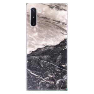 Silikonové odolné pouzdro iSaprio BW Marble na mobil Samsung Galaxy Note 10