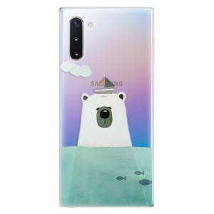 Silikonové odolné pouzdro iSaprio Bear With Boat na mobil Samsung Galaxy Note 10
