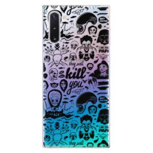 Silikonové odolné pouzdro iSaprio Comics 01 black na mobil Samsung Galaxy Note 10