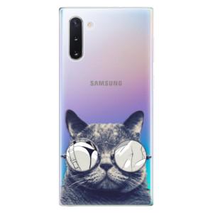 Silikonové odolné pouzdro iSaprio Crazy Cat 01 na mobil Samsung Galaxy Note 10