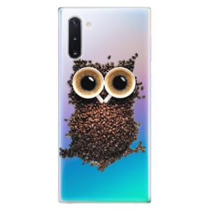 Silikonové odolné pouzdro iSaprio Owl And Coffee na mobil Samsung Galaxy Note 10