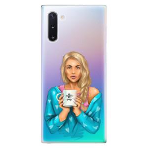 Silikonové odolné pouzdro iSaprio Coffee Now Blond na mobil Samsung Galaxy Note 10