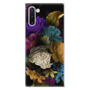 Silikonové odolné pouzdro iSaprio Dark Flowers na mobil Samsung Galaxy Note 10