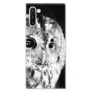 Silikonové odolné pouzdro iSaprio BW Owl na mobil Samsung Galaxy Note 10