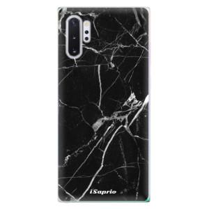 Silikonové odolné pouzdro iSaprio Black Marble 18 na mobil Samsung Galaxy Note 10 Plus